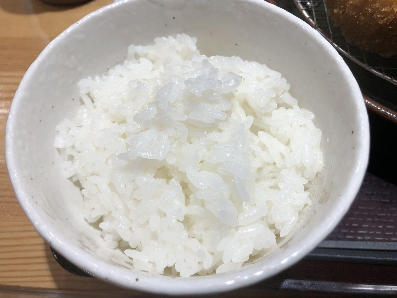 鹿児島市樋之口町のぎゅう太の白ご飯。炭水化物も食べて元気がでます。