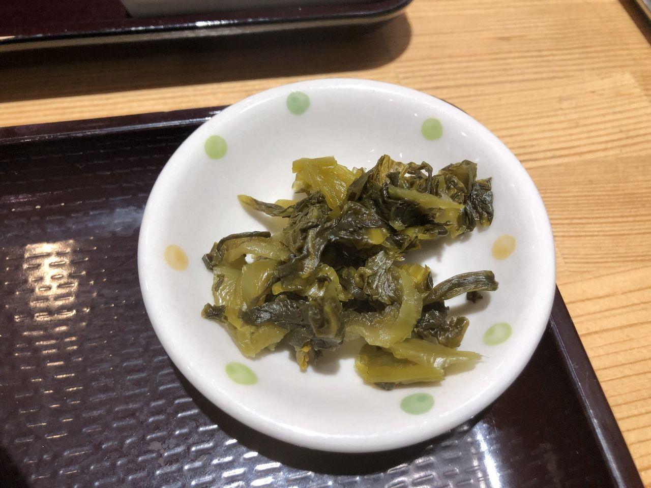 鹿児島市樋之口町のぎゅう太の高菜