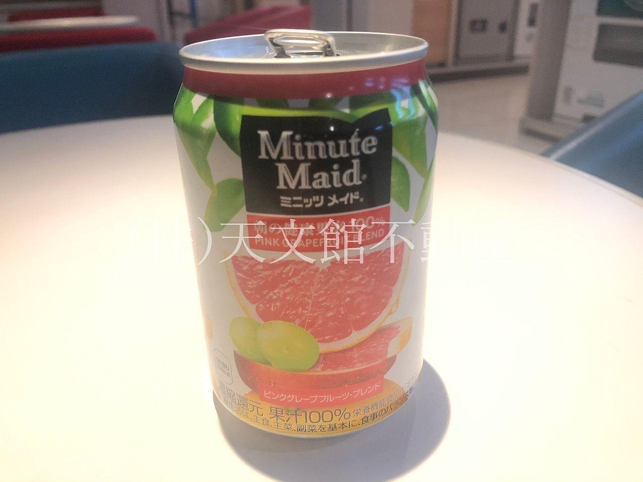 ミニッツメイド ピンクグレープフルーツ・ブレンド、私のお気に入りのジュースです。