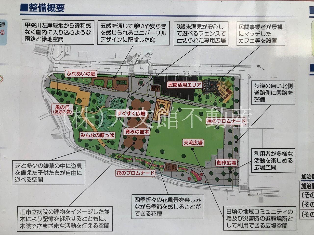 鹿児島市加治屋町 旧市立病院跡地の整備概要