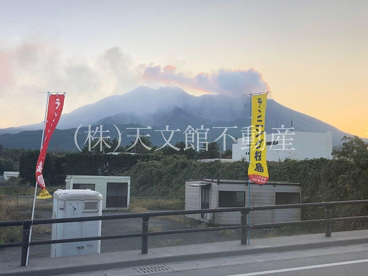 ランニング桜島に参加した時の桜島の風景。桜島マラソン