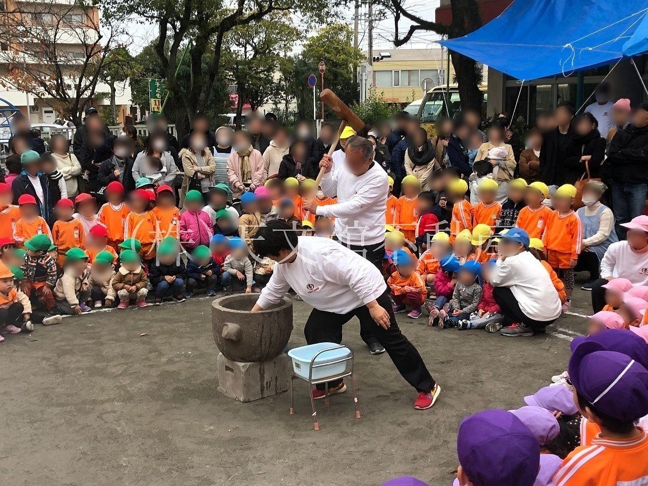 幼稚園の餅つき大会