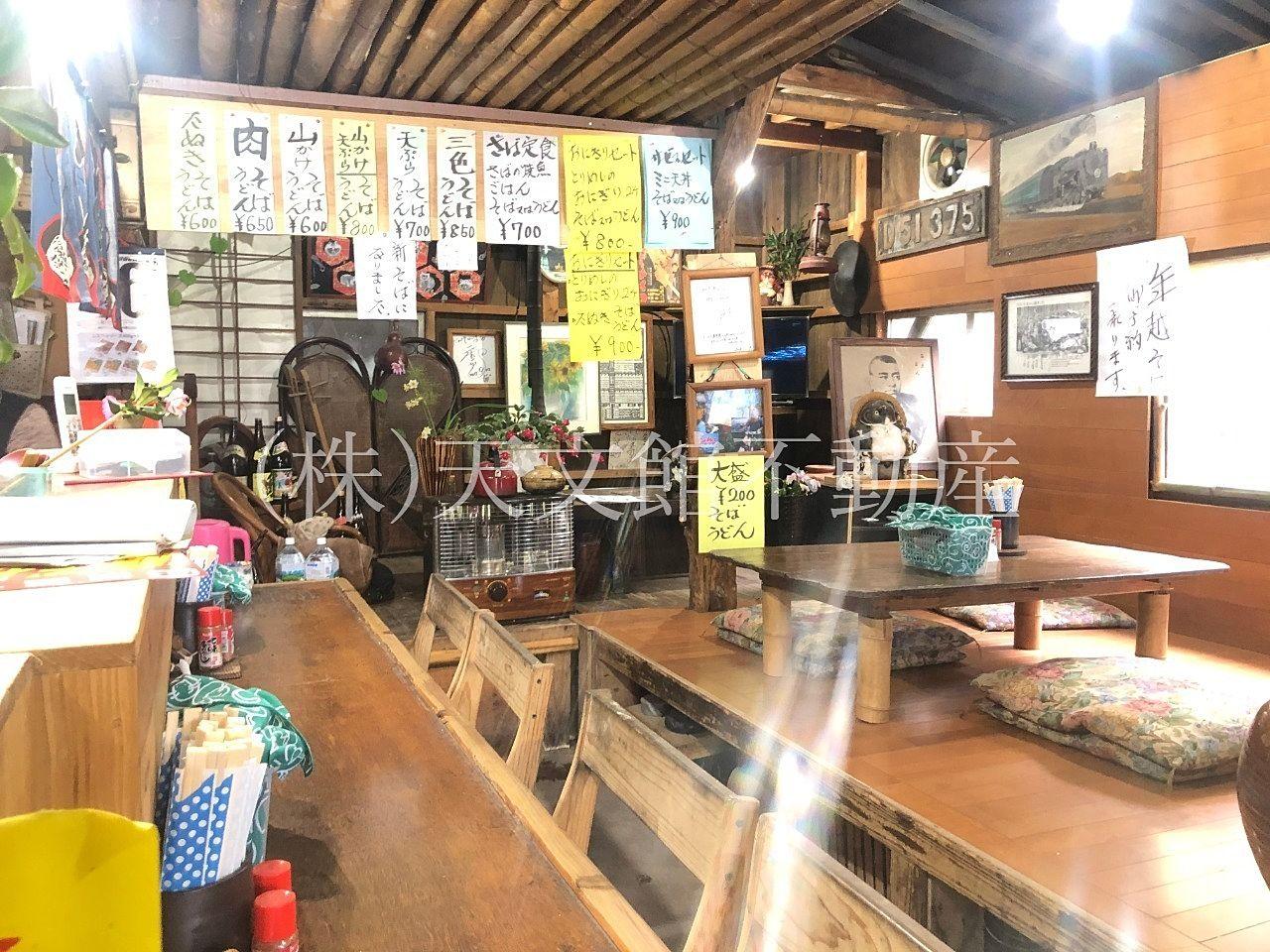 鹿児島市吉野町のたぬきそばの店舗の内装