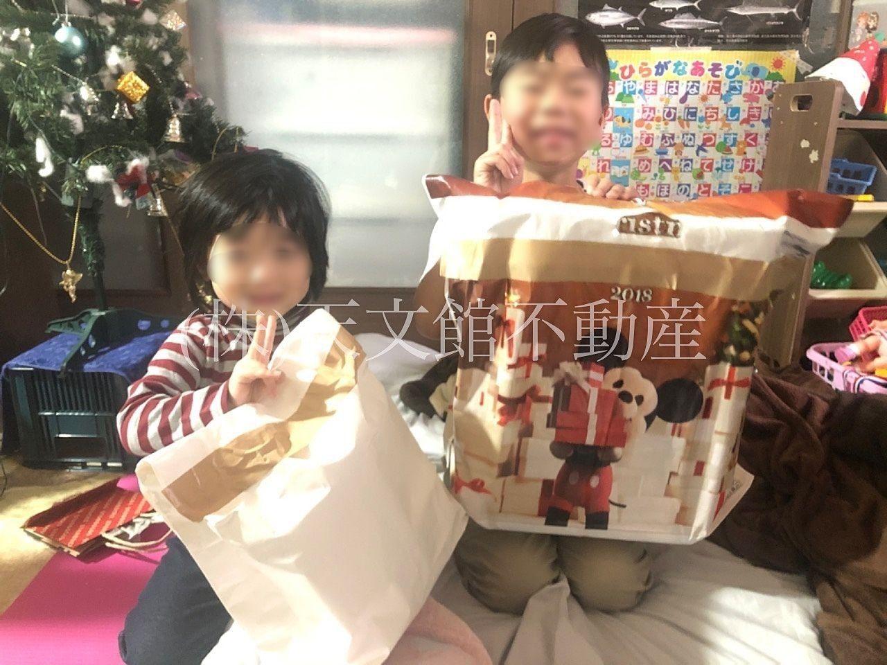 クリスマスのプレゼントがサンタさんから届きました。