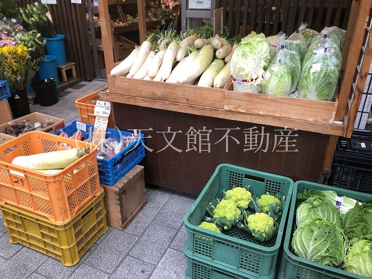 鹿児島市東千石町の天文館まちの駅 ゆめりあは野菜も安くて新鮮です。