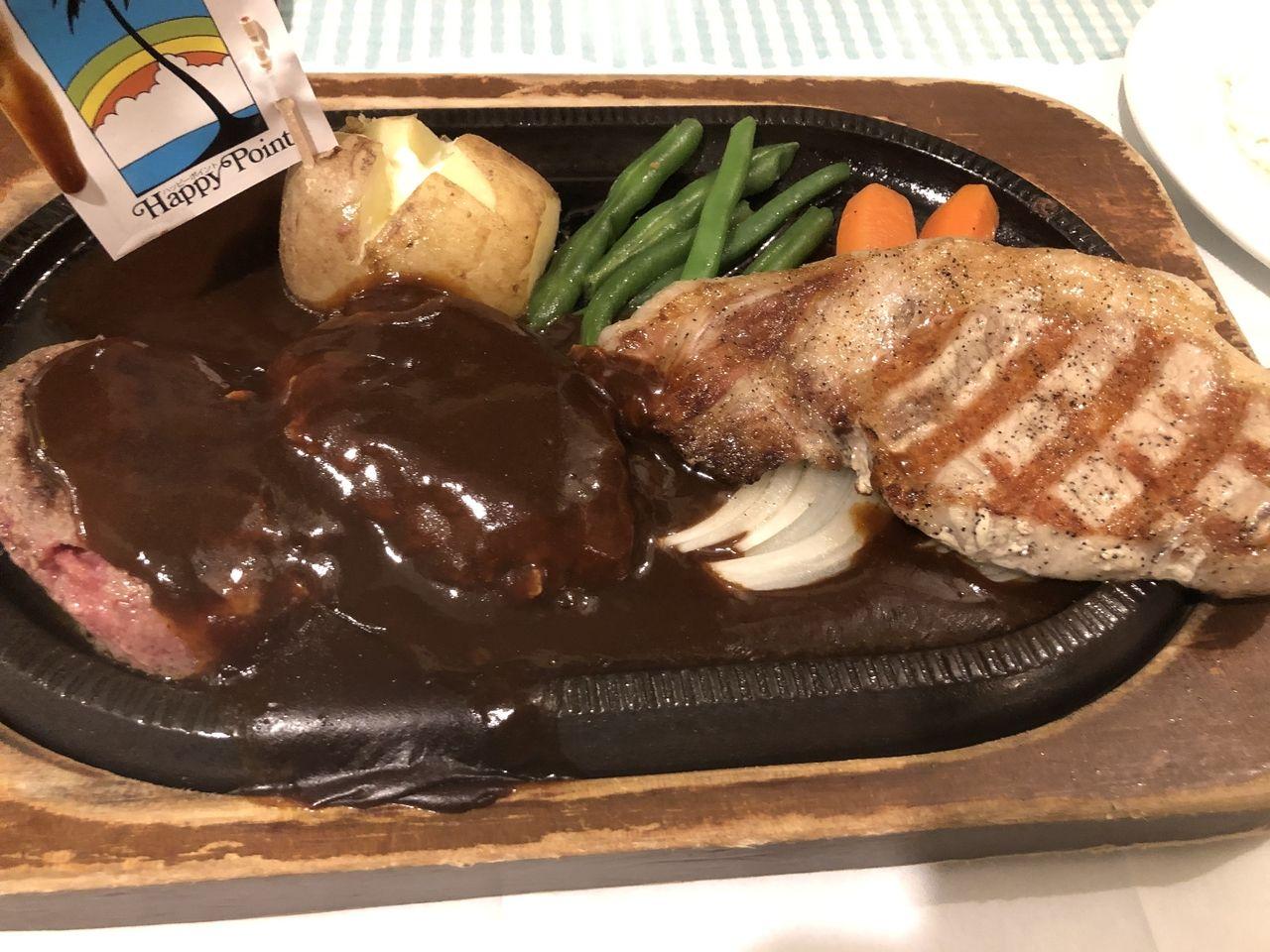 私の今日の夕食はハンバーグ・ステーキです。
