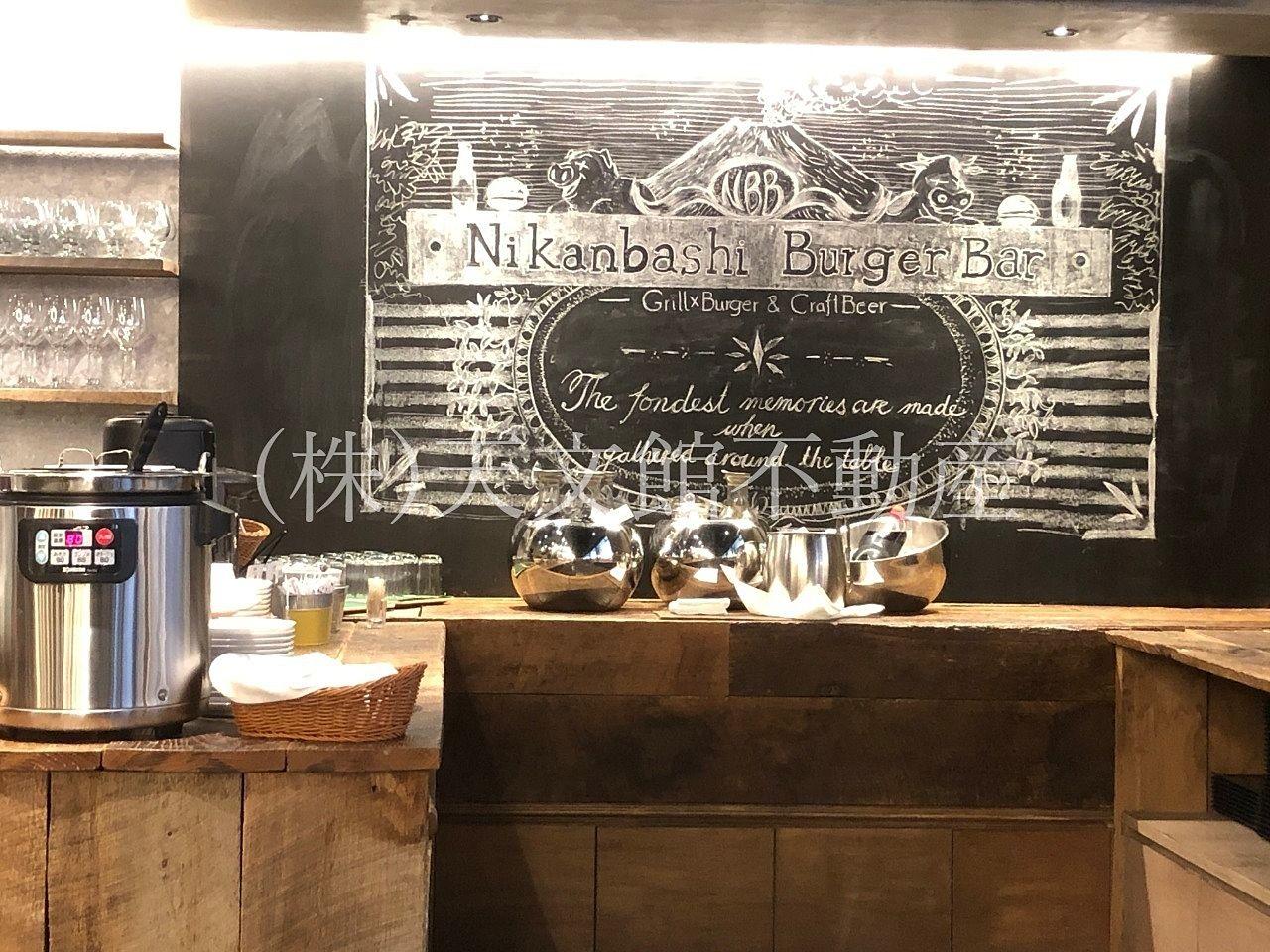 鹿児島市山之口町のNikanbashi Burger Barはコヒーもジュースもお替りできます。