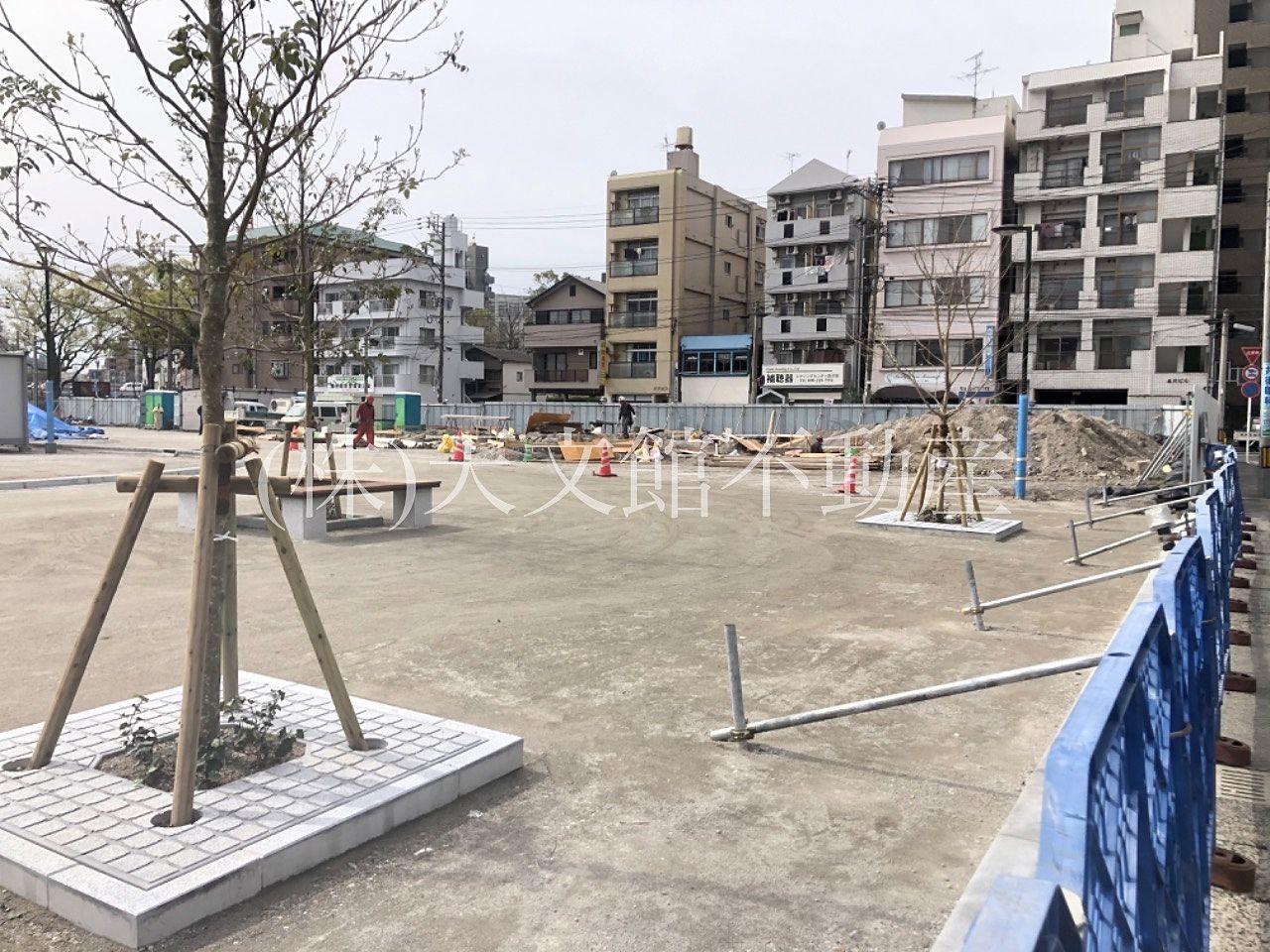 鹿児島市加治屋町の加治屋町の杜公園の北側も工事が進んできたようです。