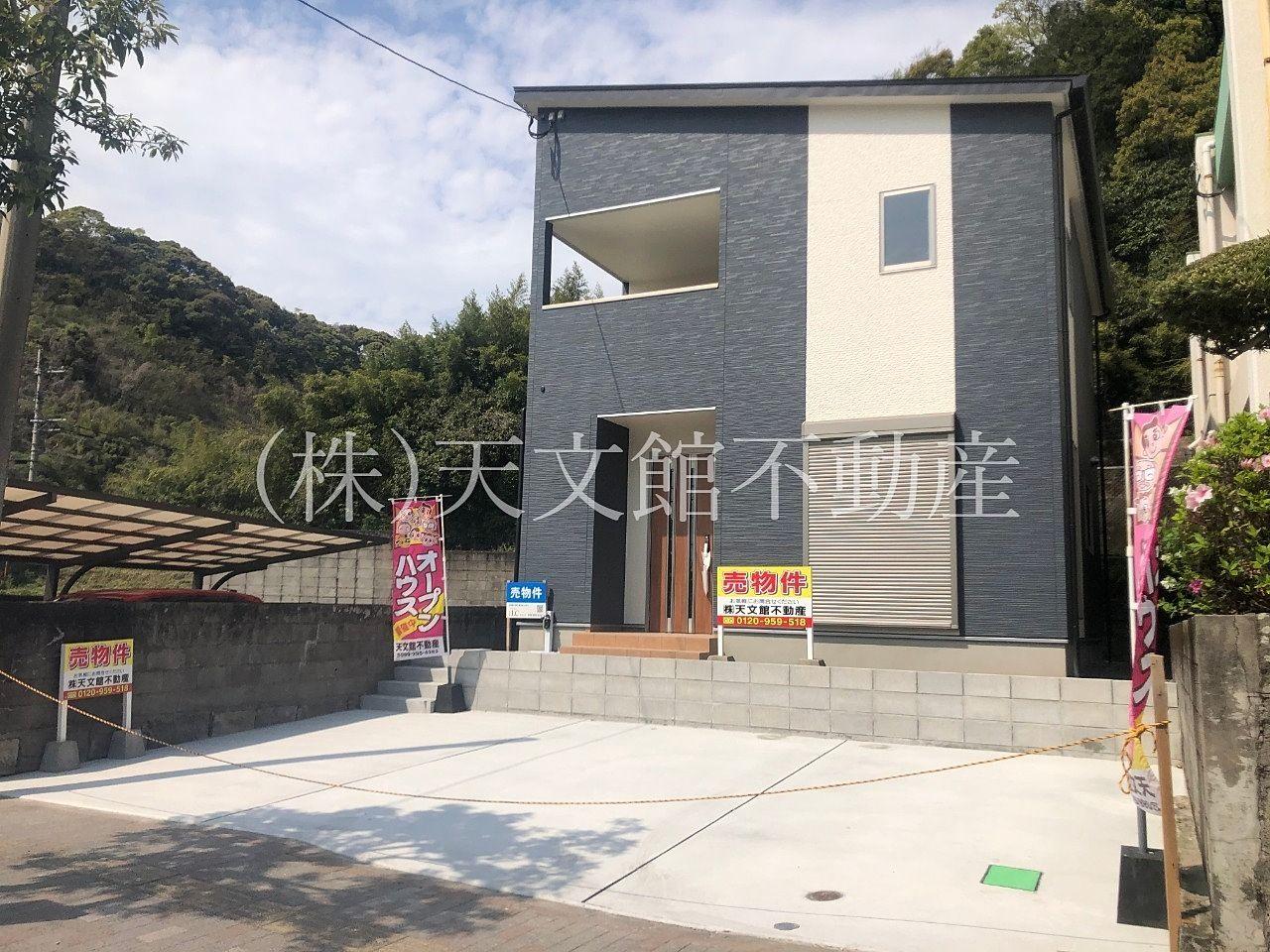 鹿児島市玉里町の新築売家の外観写真です。