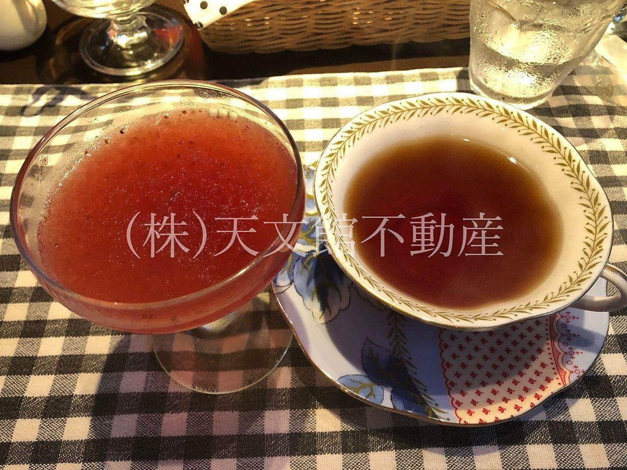 AFE SALON Oukaオウカランチ食後のデザート紅茶