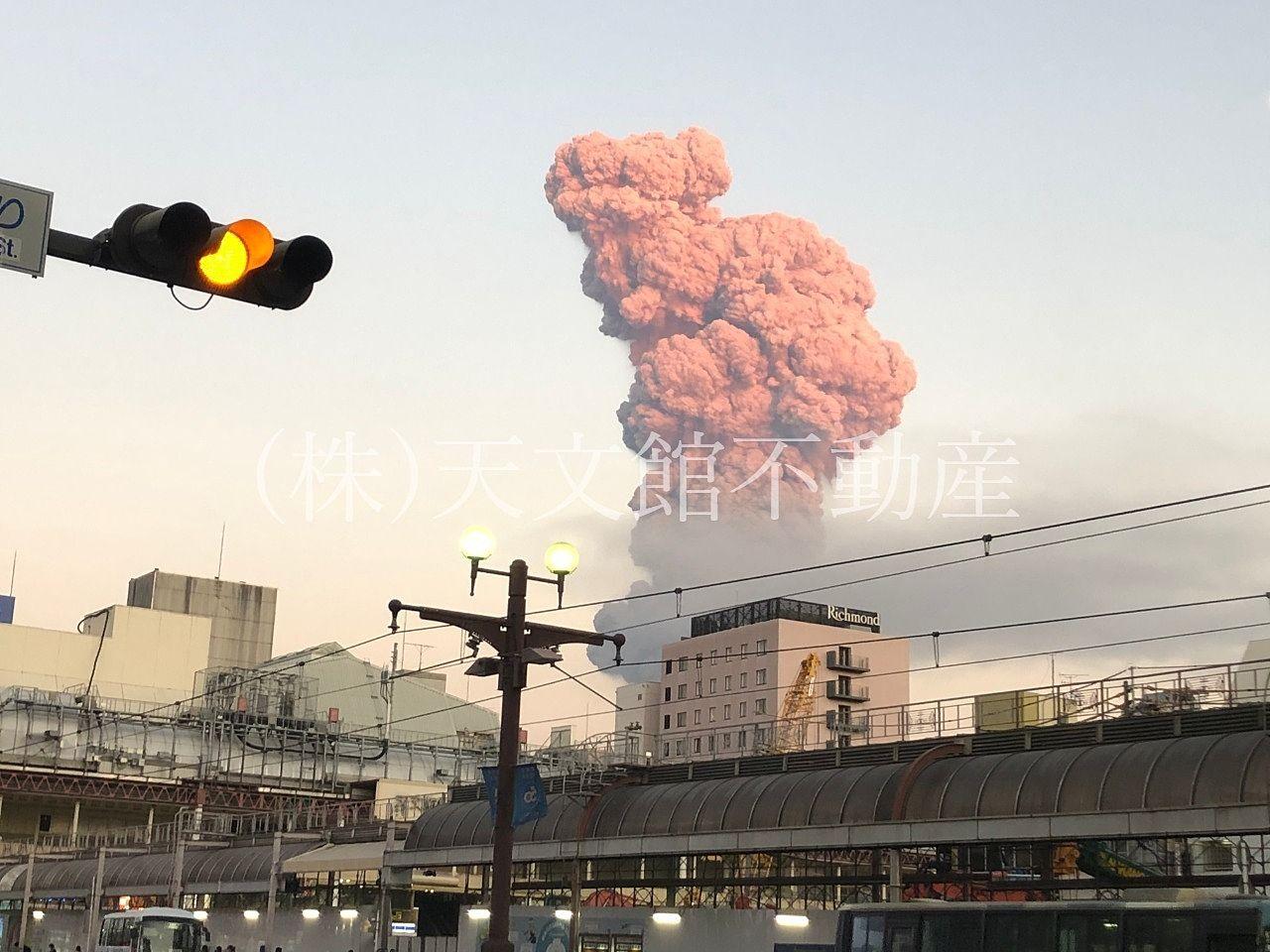 鹿児島桜島噴火
