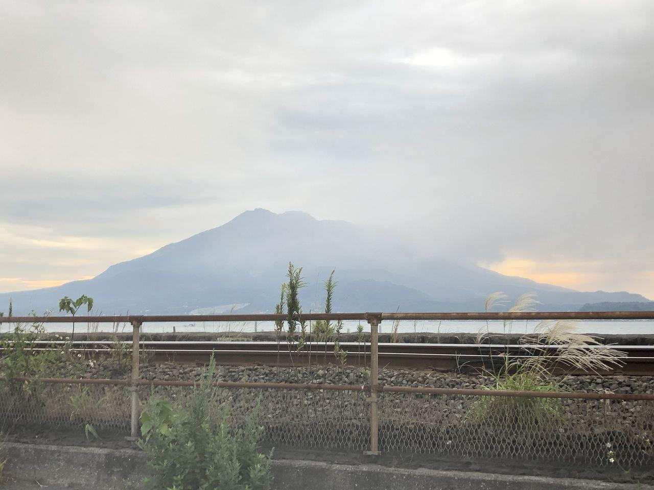 桜島の噴火直後の風景
